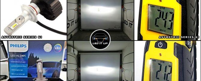 kit LED Asymetric Series G1 vs. Philips X-treme Ultinon Gen2