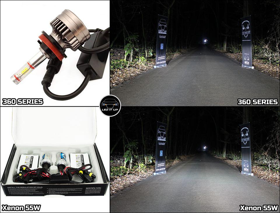 Kit LED 360 Series vs instalatie Xenon AE 55W