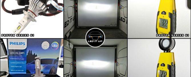 Kit LED Proton Series G1 vs. Philips X-treme Ultinon Gen2