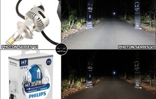 Photon Series V1 vs. Halogen H7 Philips White Vision