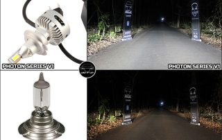 Photon Series V1 vs. Halogen H7 standard