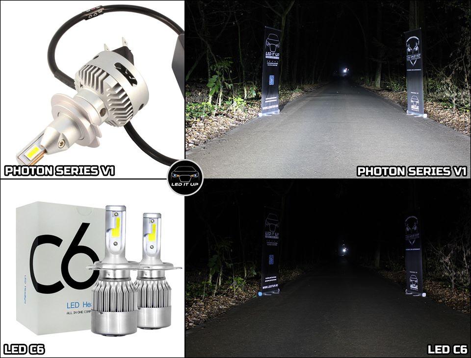 Photon Series V1 vs. LED C6