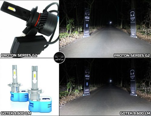 Teste comparative: Kit LED Proton Series G2 vs. Gotek LED 9.600 lm
