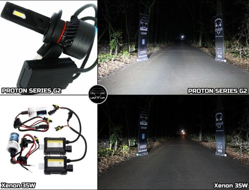 Teste comparative: Kit LED Proton Series G2 vs. Instalatie Xenon AE 35W
